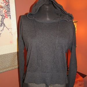 VS Charcoal Grey Cashmere Hoodie - S/P